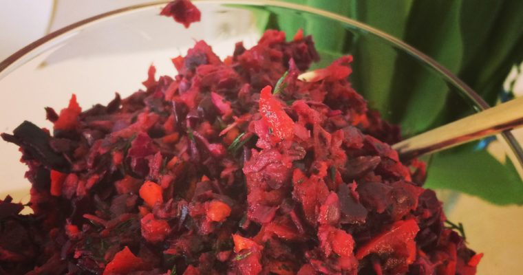 Violetter Salat aus Rotkohl (basisch, glutenfrei, mega lecker)