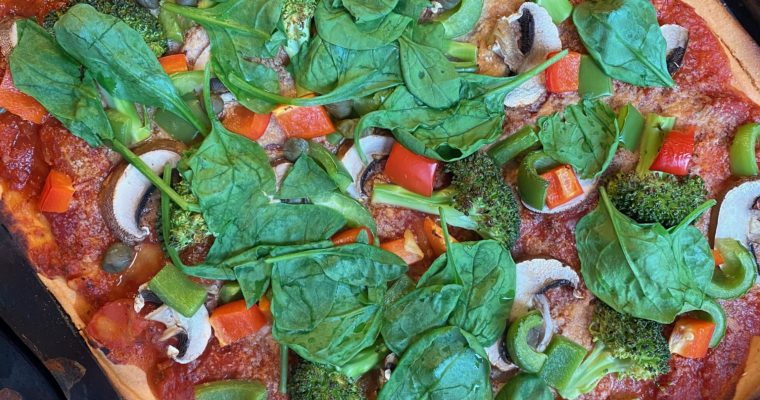 Pizza +++glutenfrei, basisch, proteinreich